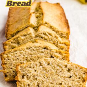 pinterest image for classic banana bread