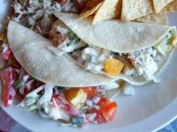 Fish Tacos with Cilantro Slaw