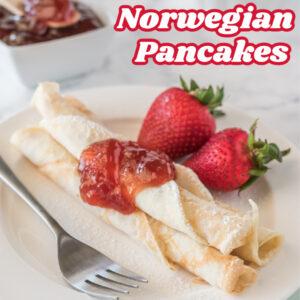 norwegian pancakes pinterest image