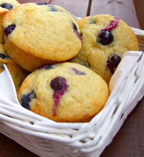 Old Fashioned Blueberry Muffins Recipe - from RecipeGirl.com