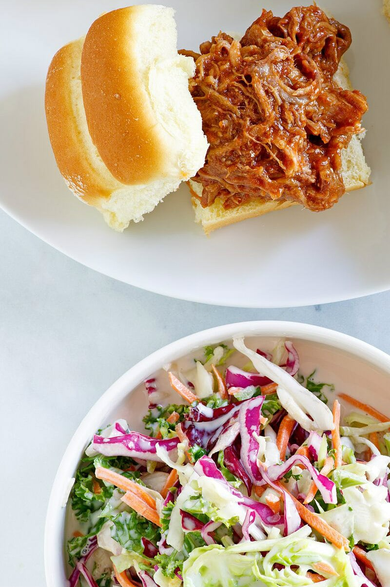 Carolina BBQ Pork Slider with Cole Slaw