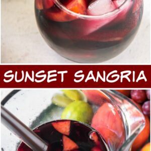 pinterest collage image for sunset sangria