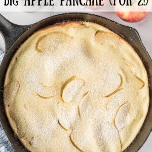 pinterest image for big apple pancake