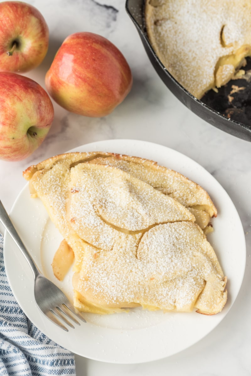slices of apple pancake on a plate