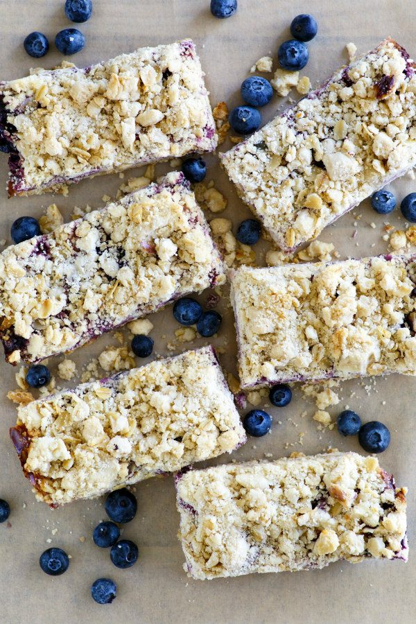 Lemon Blueberry Streusel Bars