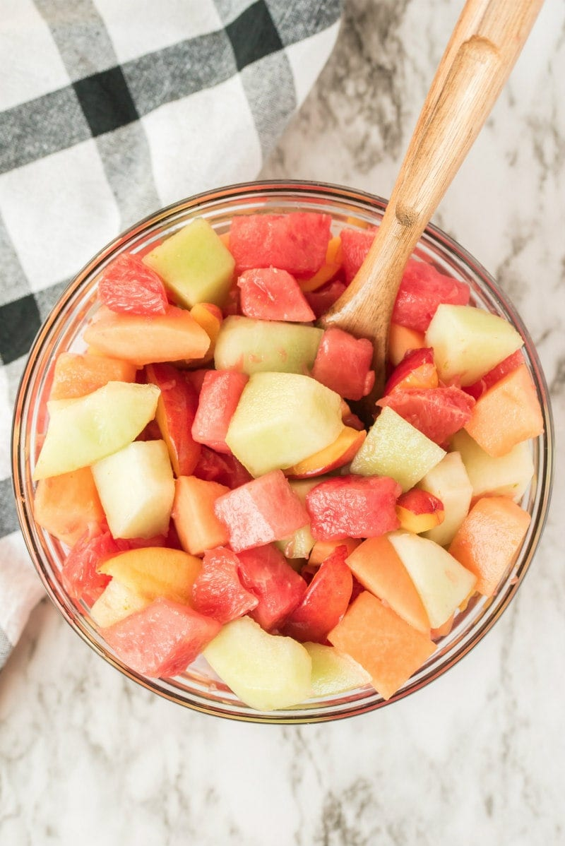 Fruit Salad With Lime Syrup Recipe Girl