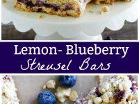 pinterest collage image for lemon blueberry streusel bars