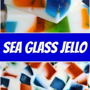 pinterest collage image for sea glass jello
