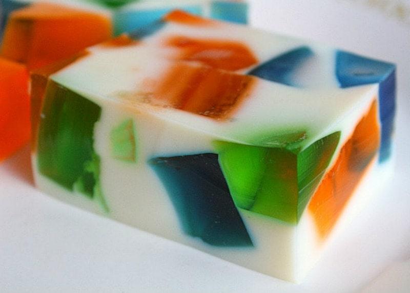piece of sea glass jello