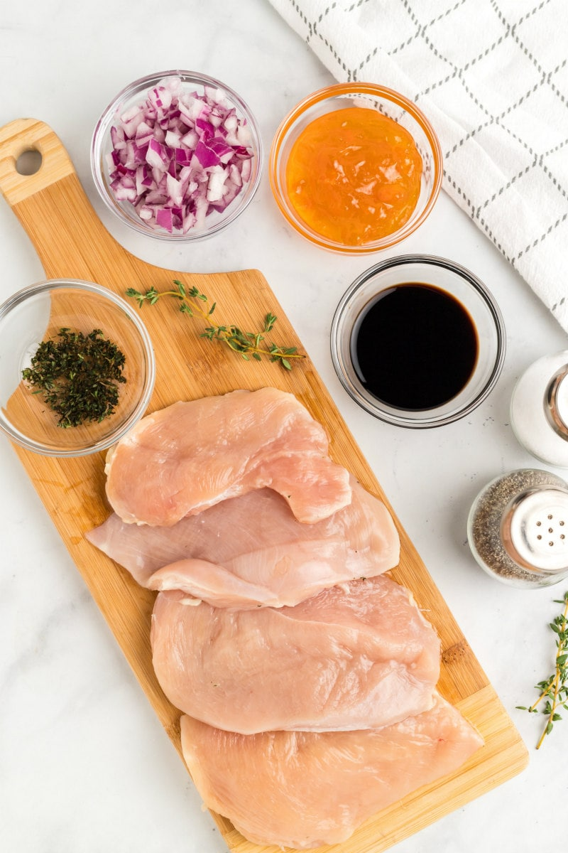 ingredients needed for apricot balsamic chicken