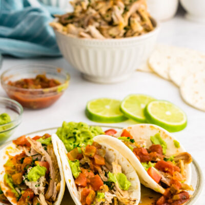 carnitas tacos on a plate