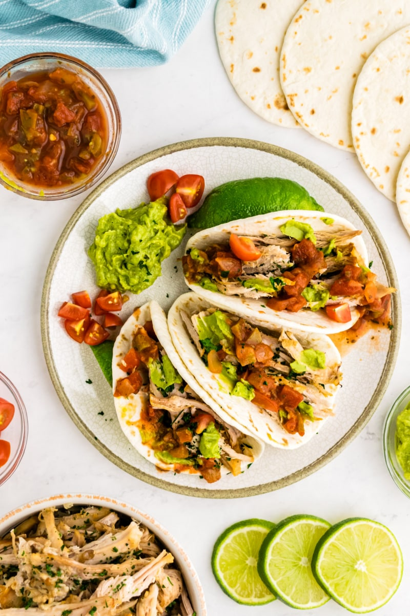carnitas tacos on a plate
