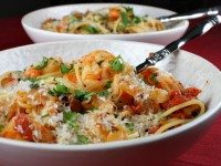 Chipotle Beer Shrimp with Pasta