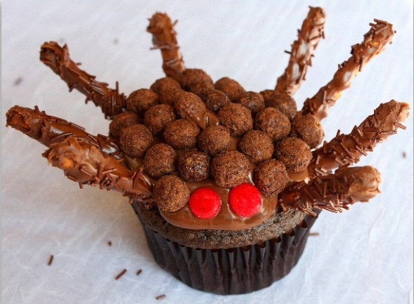 Chocolate Nutella Spider Cupcakes