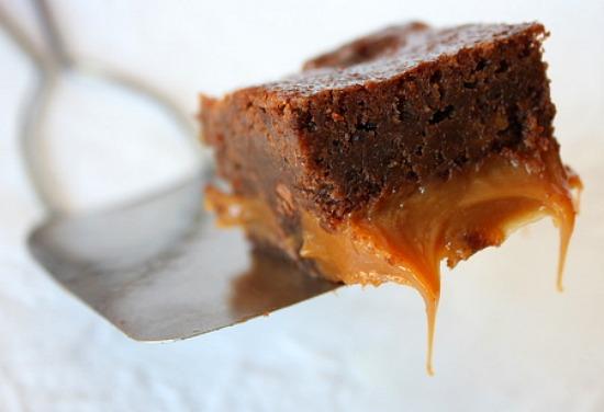 Fudgy Caramel Brownies