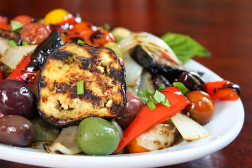 Grilled Vegetable Salad - RecipeGirl