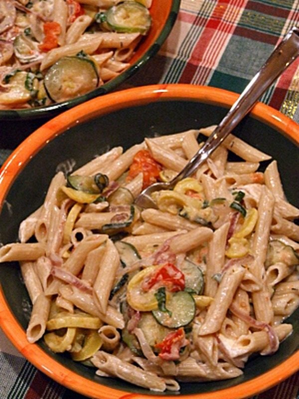 Penne with Roasted Vegetables - RecipeGirl