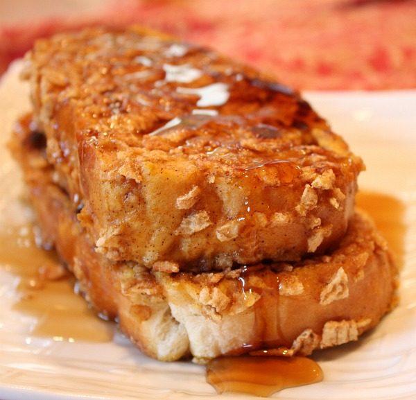 Pumpkin French Toast with crunchy cinnamon crust