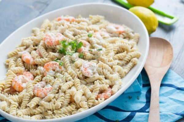 Rotini with Shrimp recipe - from RecipeGirl.com
