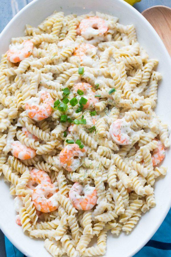 Rotini with Shrimp recipe - from RecipeGirl.com