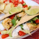 Shrimp Tacos with Chipotle Cream