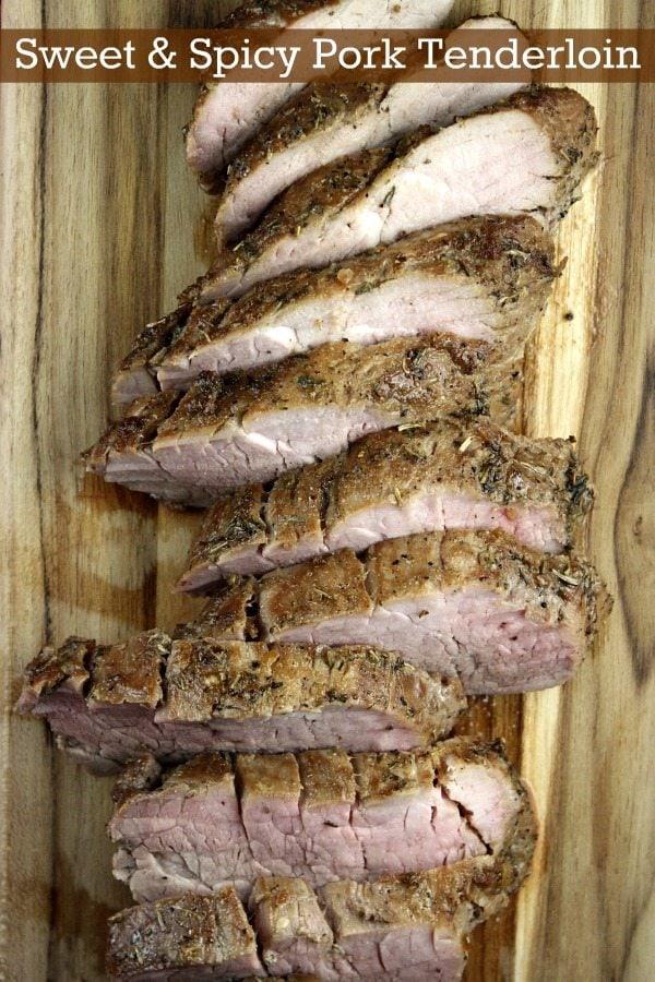 Sweet and Spicy Pork Tenderloin #recipe - RecipeGirl.com