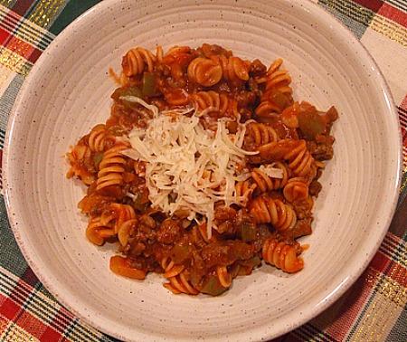 Tomato- Beef Pasta