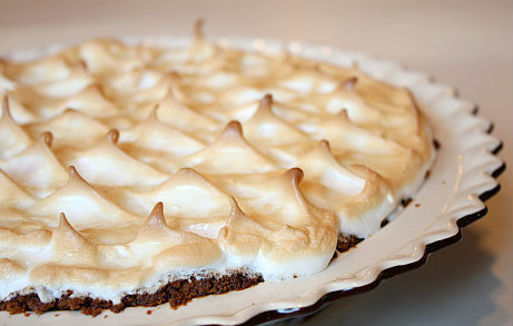Waitress Pie topped with toasted meringue