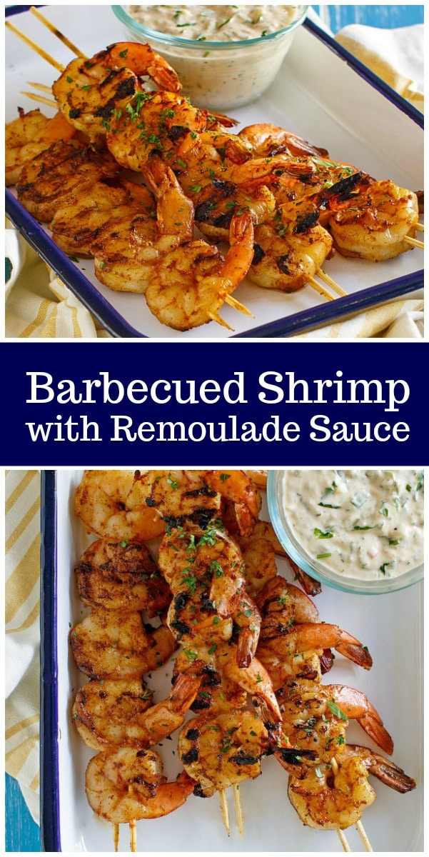 Barbecued Shrimp with Remoulade Sauce recipe from RecipeGirl.com #grilling #shrimp #remoulade #sauce #recipe #RecipeGirl