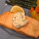 Beer Poached Salmon with Tarragon Mayonnaise