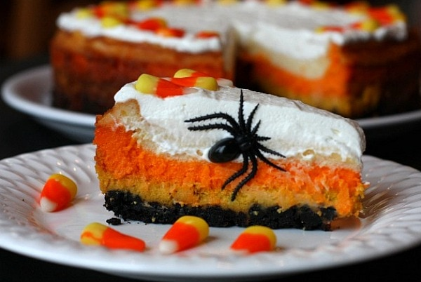 Halloween Candy Corn Cheesecake Recipe