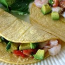 Ceviche Shrimp Tacos