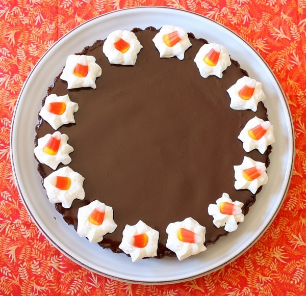 Chocolate Glazed Chocolate Tart Recipe — Dishmaps