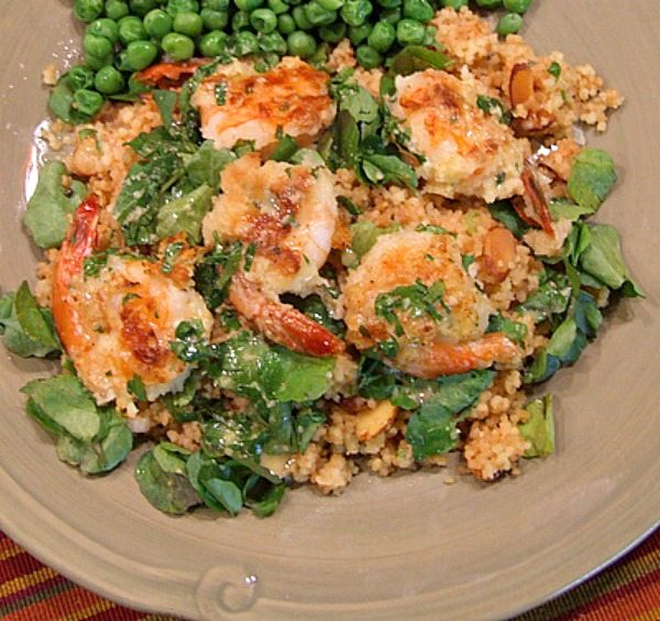 Crunchy Shrimp with Toasted Couscous