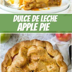 pinterest collage image for dulce de leche apple pie