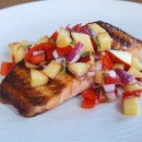 Grilled Salmon with Nectarine Relish