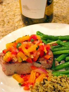 Grilled Tuna with Citrus Salsa