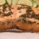 Lemon Dill Marinated Salmon