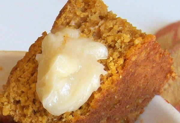 Pumpkin Cornbread with butter