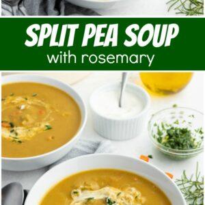 pinterest collage image for split pea soup