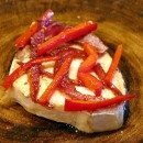 Swordfish with Roasted Onion Vinaigrette