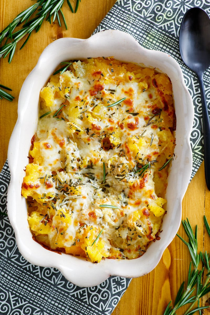 Roasted Butternut Squash Gratin with Rosemary