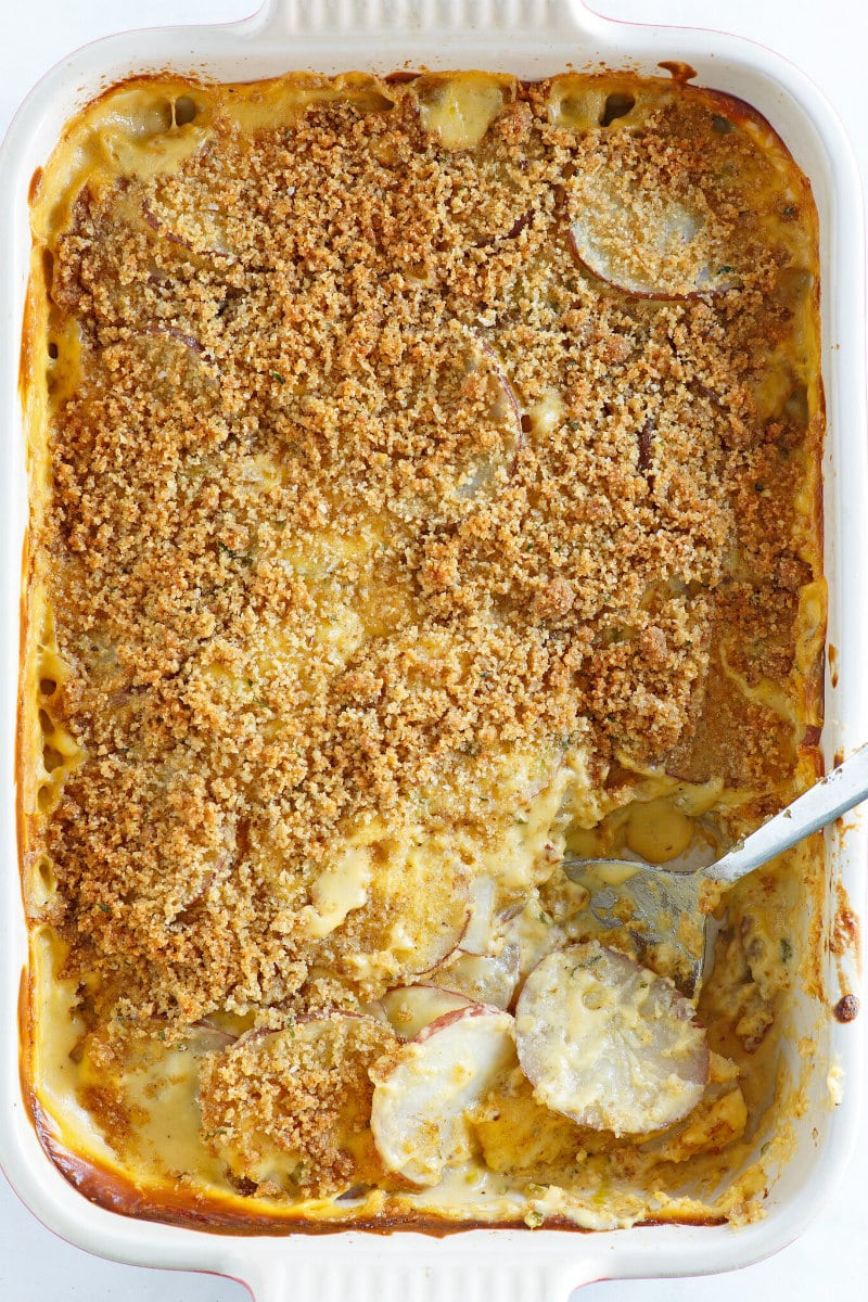 Pan of Cheesy Scalloped Potatoes