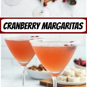 pinterest collage image for cranberry margaritas