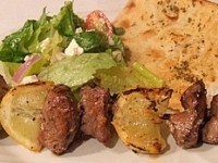 Garlic and Lemon Lamb Kabobs