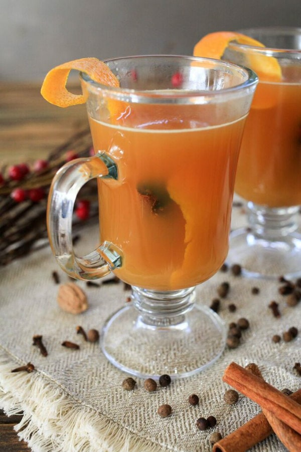Hot Mulled Ginger Spiced Cider Recipe