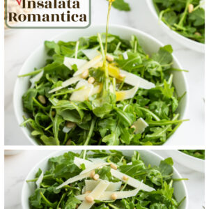 pinterest collage image for insalata romantica
