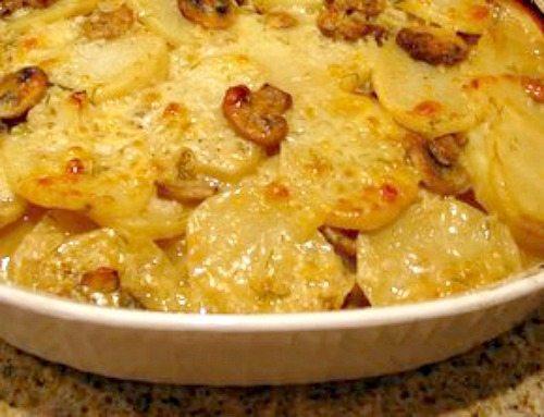 Mushroom Dill Scalloped Potatoes