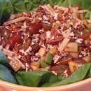 Pear and Apple Salad with Gruyere and Toasted Pecans