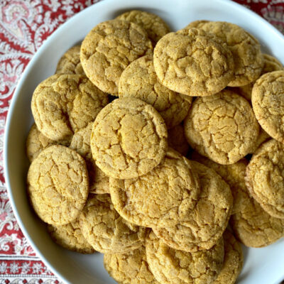 platter of pumpkin snickerdoodles